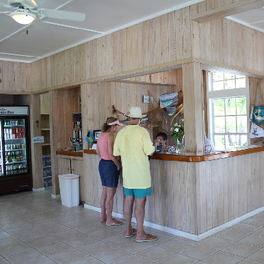 The Reception Area at Orchid Bay
