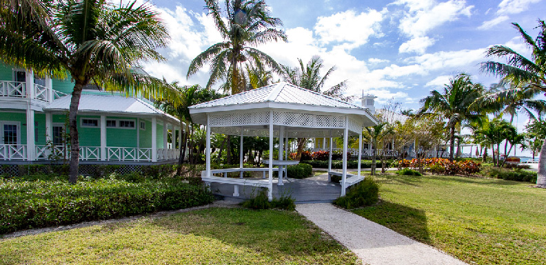 The gazebo at Orchid Bay Marina