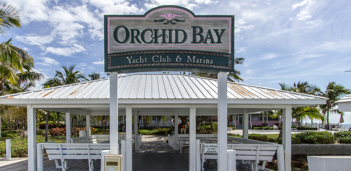 The Entrance from the dock to Orchid Bay Marina